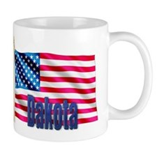 Dakota Personalized USA Flag Mug