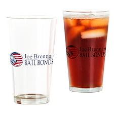 Joe Brennan BAIL BONDS Drinking Glass