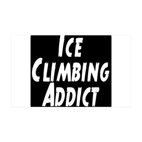 Ice Climbing Addict 35x21 Wall Decal