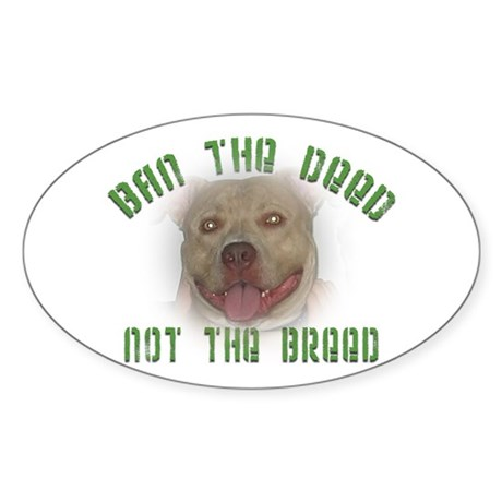Anti-BSL custom Oval Sticker