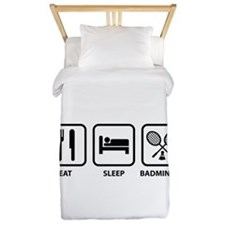 Eat Sleep Badminton Twin Duvet