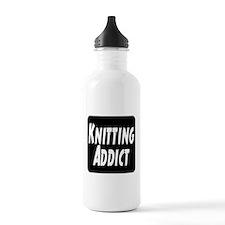 Knitting addict Water Bottle