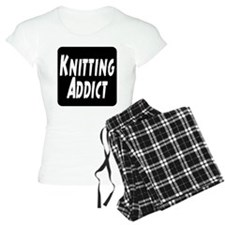 Knitting addict pajamas