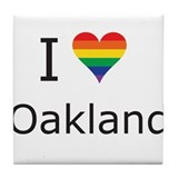 I Heart Oakland Tile Coaster