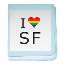 I Heart SF baby blanket