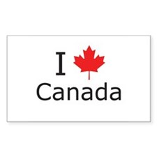 I Maple Leaf Canada Decal