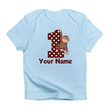 1st Birthday Monkey Red Infant T-Shirt