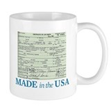 Barack Obama Made In The USA Birth Certificate Small Mug