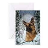 German Shepherd Christmas Cards (Pk of 10)
