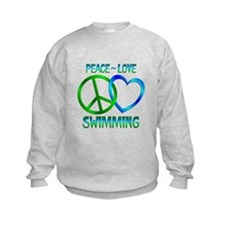 Peace Love Swimming Sweatshirt