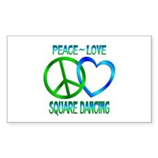 Peace Love Square Dancing Decal