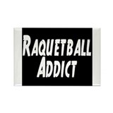 Raquetball Addict Rectangle Magnet
