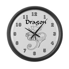 Tanya Dragon Large Wall Clock