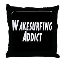 Wakesurfing addict Throw Pillow