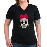 -Calaca Frida- Women's Dark V T