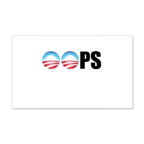 Obama OOPs 20x12 Wall Decal