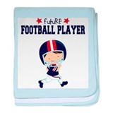 Future Football Player Baby Blanket
