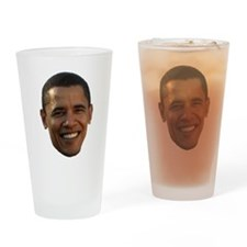 Obama Head Drinking Glass