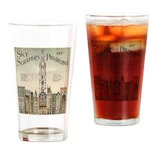 Skyscrapers Of Philadelphia Drinking Glass