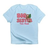 Big Sister Monkey Pink Infant T-Shirt