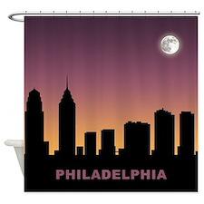 Philadelphia Afterglow Shower Curtain