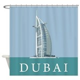 Dubai Burj Al Arab Shower Curtain