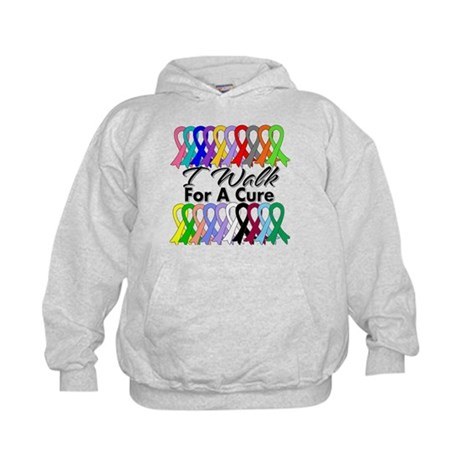 Cancer I Walk For A Cure Kids Hoodie