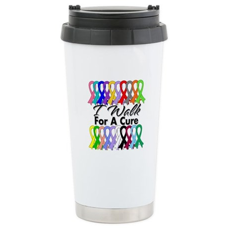 Cancer I Walk For A Cure Ceramic Travel Mug