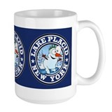 Lake Placid Snowman Circle Coffee Mug