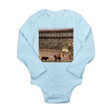 Vintage Spain Bull Fight Long Sleeve Infant Bodysu