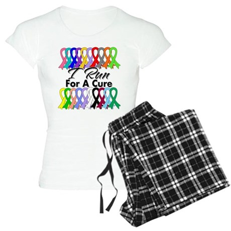 Cancer I Run For A Cure Women's Light Pajamas