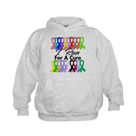 Cancer I Run For A Cure Kids Hoodie