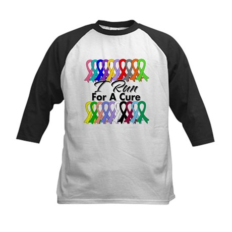 Cancer I Run For A Cure Kids Baseball Jersey