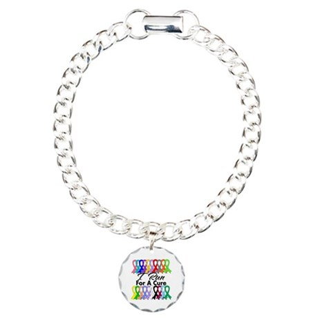 Cancer I Run For A Cure Charm Bracelet, One Charm