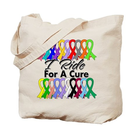Cancer Ride For A Cure Tote Bag