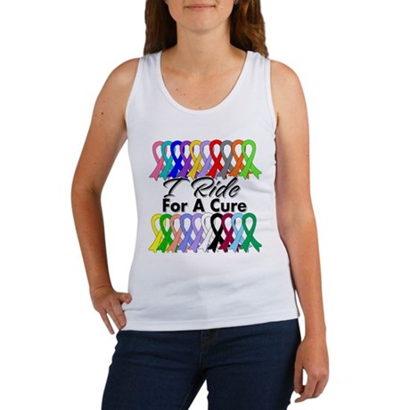 Cancer Ride For A Cure Women's Tank Top