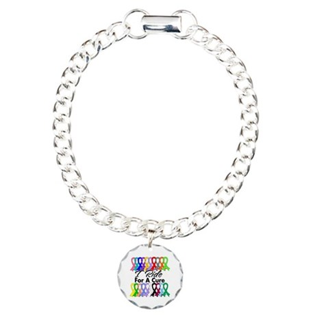 Cancer Ride For A Cure Charm Bracelet, One Charm