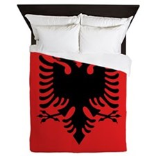 Flag of Albania Queen Duvet