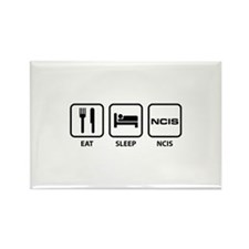 Eat Sleep NCIS Rectangle Magnet