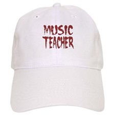 """Music Teacher Red"" Baseball Cap"