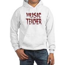 """Music Teacher Red"" Hoodie Sweatshirt"