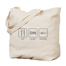 Eat Sleep Sharks Tote Bag