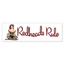 Redheads Rule Bumper Bumper Sticker