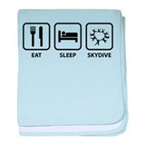 Eat Sleep Skydive baby blanket