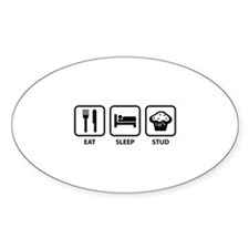 Eat Sleep Stud Decal