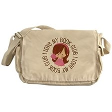 I Love Book Club Reading Messenger Bag