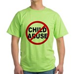 Anti / No Child Abuse Green T-Shirt