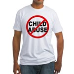 Anti / No Child Abuse Fitted T-Shirt