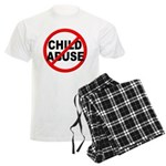 Anti / No Child Abuse Men's Light Pajamas