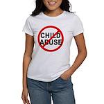 Anti / No Child Abuse Women's T-Shirt